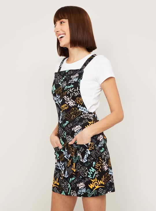 GINGER Women Printed Pinafore Dress