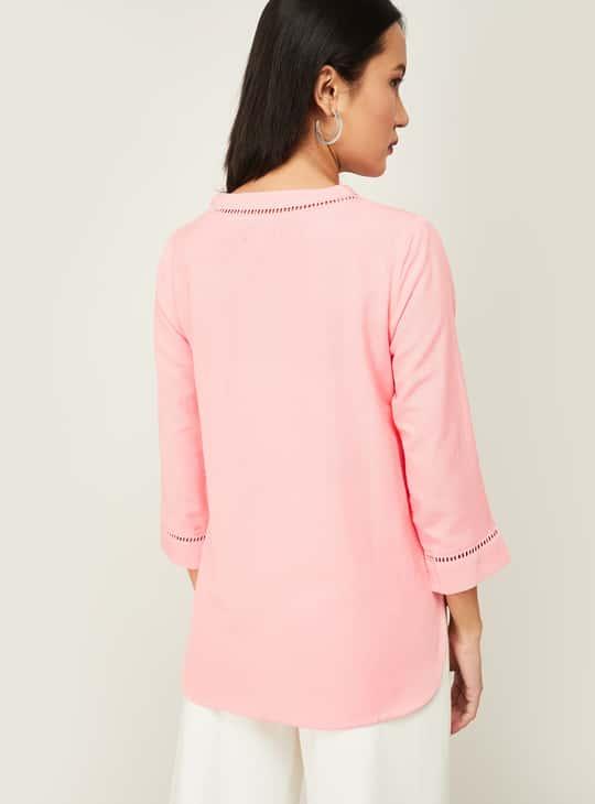 BOSSINI Women Solid V-neck Top