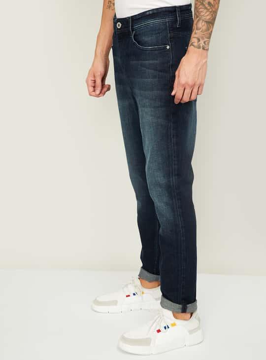 LEE COOPER Men Stonewashed Regular Tapered Jeans