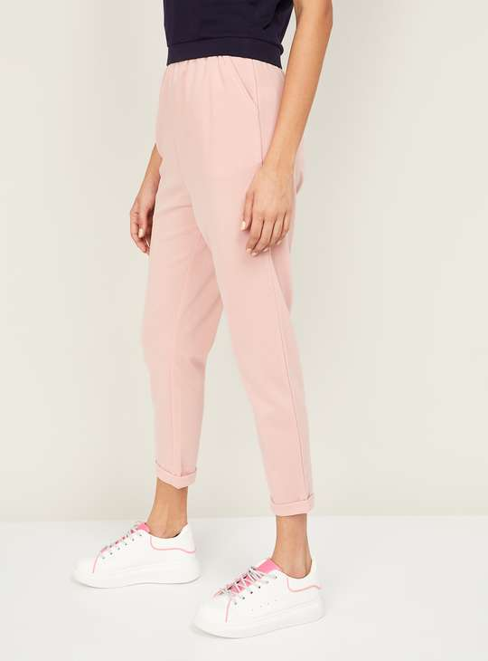 GINGER Women Solid Cropped Pants