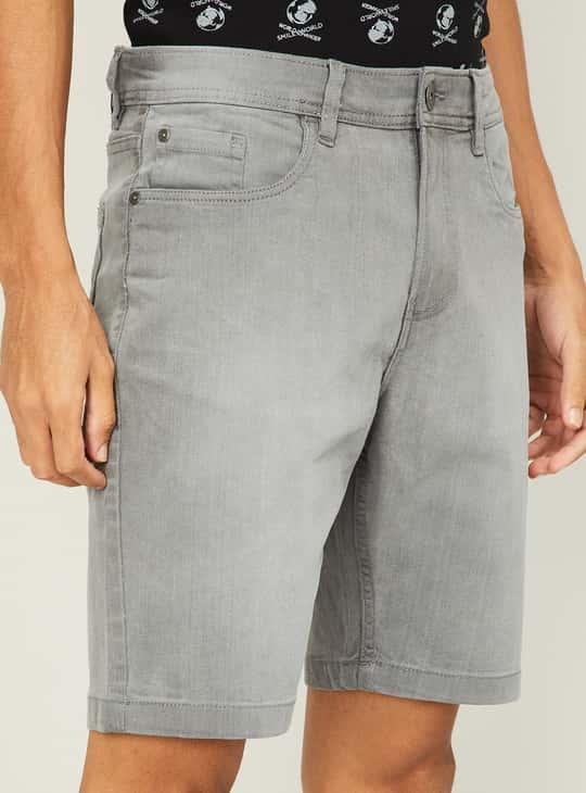 FORCA Men Solid Regular Fit Woven Shorts