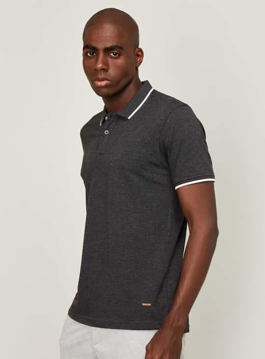 CODE Men Solid Regula Fit Polo T-shirt