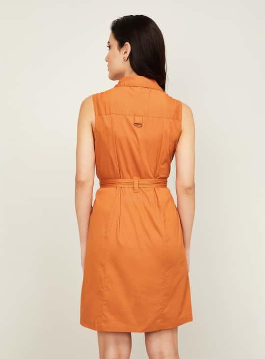 LATIN QUARTERS Women Solid Shirt Dress