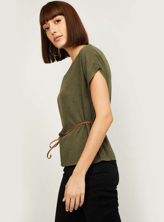 LEVI'S Women Star Printed Top with Tie-up Detail