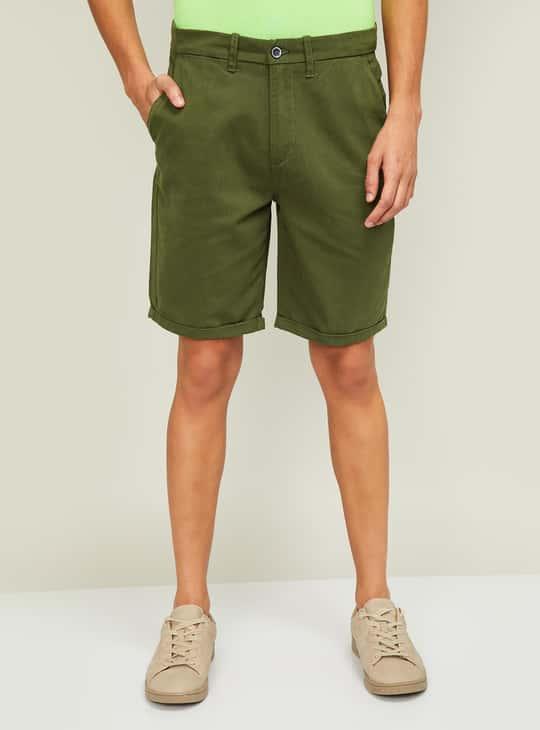 CODE Men Solid Shorts
