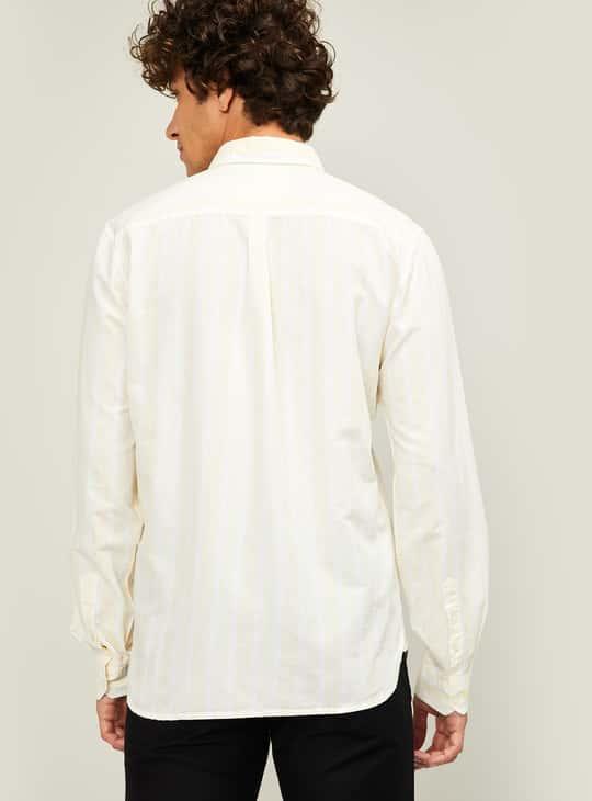 CODE Men Striped Slim Fit Casual Shirt