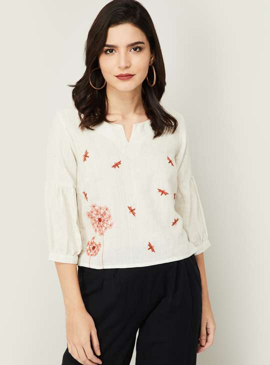 COLOUR ME Women Embroidered Top