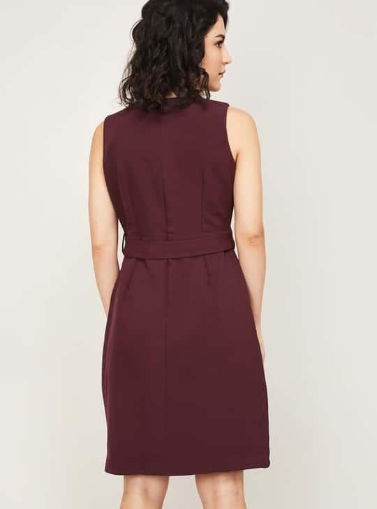 FABALLEY Women Solid Sheath Dress