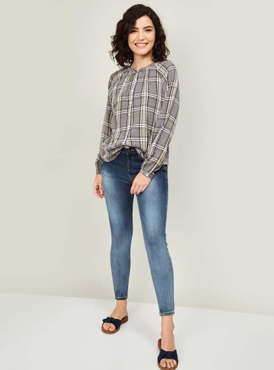 LEVI'S Women Checked Full Sleeves Shirt