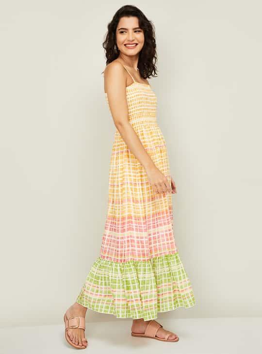 GLOBAL DESI Women Printed Midi Dress
