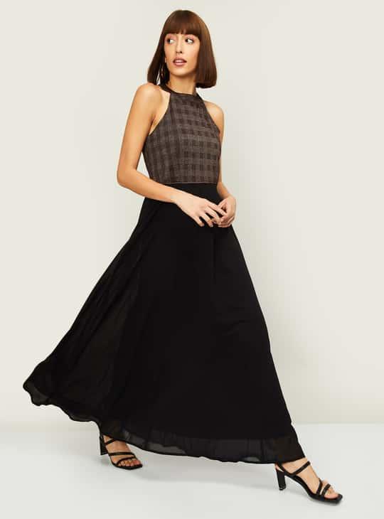 LATIN QUARTERS Women Textured Sleeveless Maxi Dress