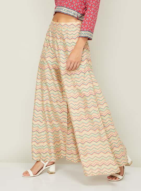 GLOBAL DESI Women Printed Sharara Pants