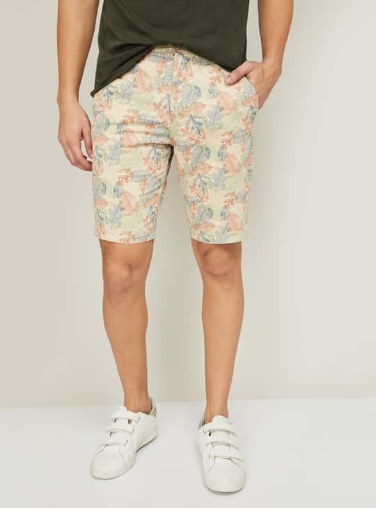 T-BASE Men Floral Printed Casual Shorts