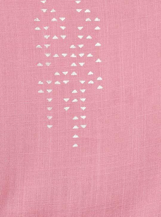 MELANGE Printed Three-Quarter Sleeves A-line Kurta