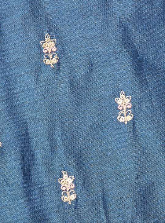 MELANGE Women Embroidered Kurta with Flared Palazzos and Dupatta