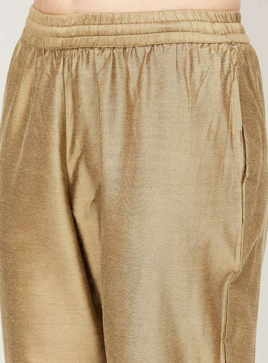 MELANGE Women Textured Elasticated Straight Pants