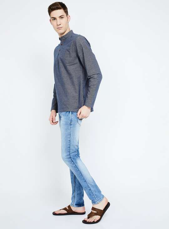 MELANGE Textured Regular Fit Shirt Kurta