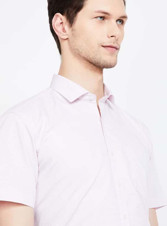 CODE Printed Regular Fit Formal Shirt