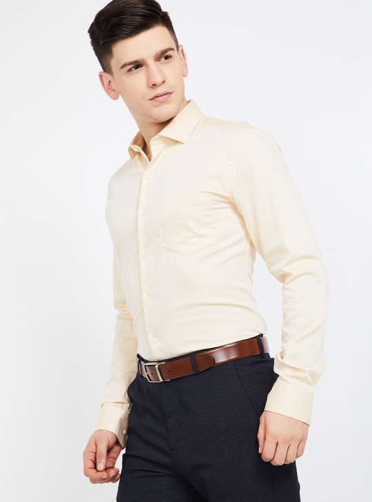 CODE Textured Slim Fit Formal Shirt
