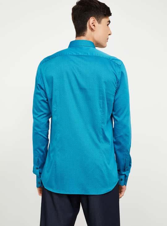 CODE Textured Full Sleeves Slim Fit Shirt