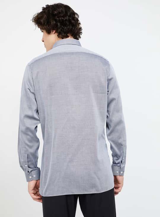VAN HEUSEN DobbyTextured Regular Fit Formal Shirt