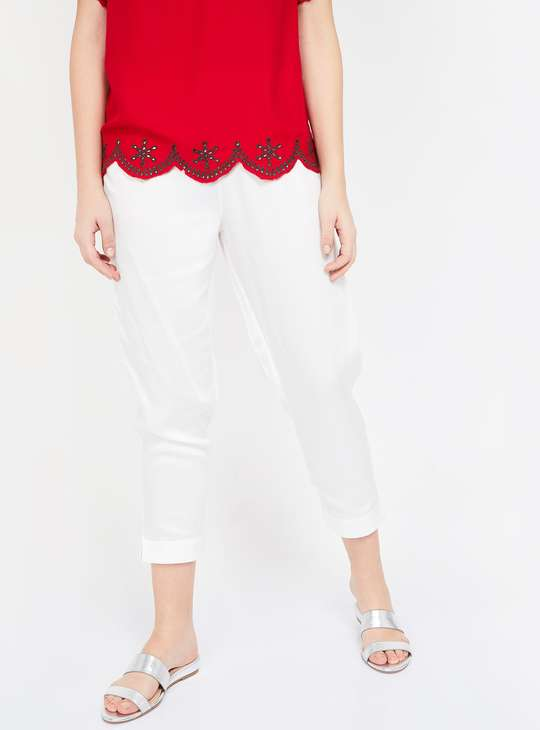 MELANGE Solid Elasticated Pants