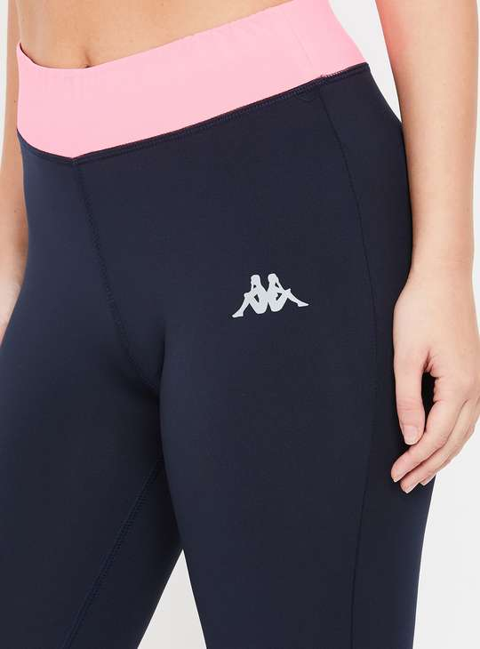 KAPPA High-Rise Kooltex Cropped Lightweight Tights with Taping