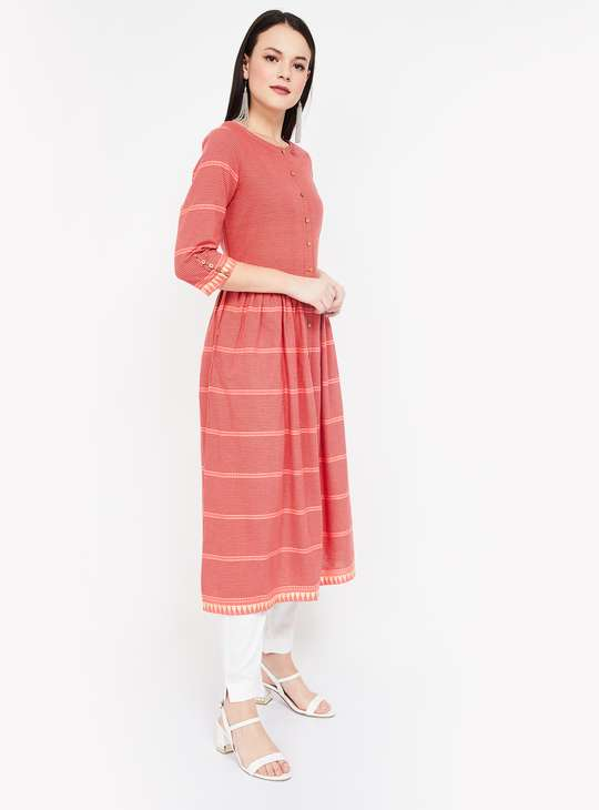 MELANGE Striped Flared Kurta