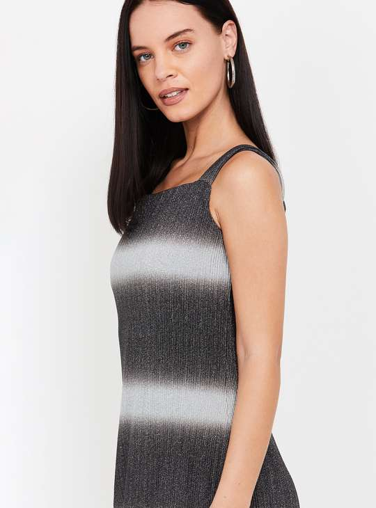 CODE Striped Sleeveless Sheath Dress