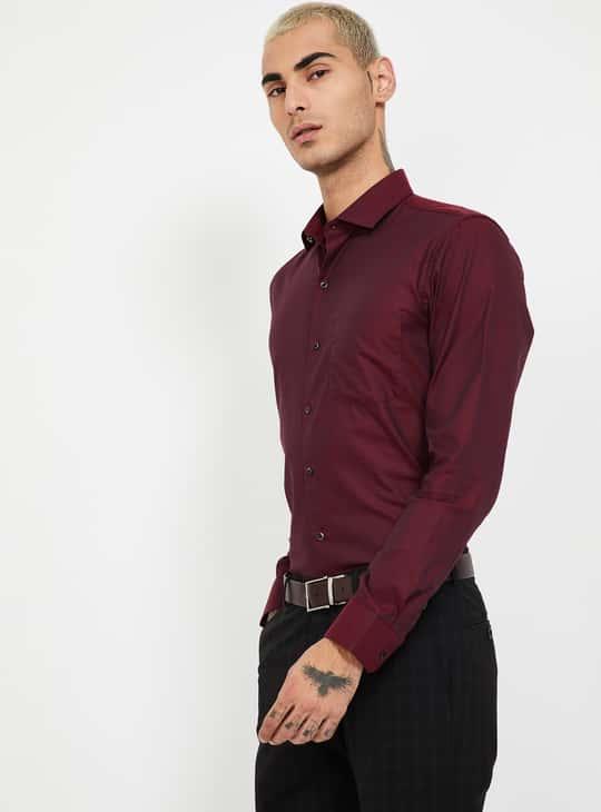 CODE Textured Slim Fit Formal Shirt