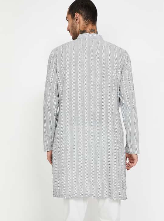 MELANGE Striped Regular Fit Kurta