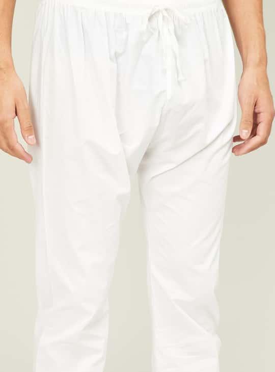 MANYAVAR Men Solid Straight Kurta with Pyjama