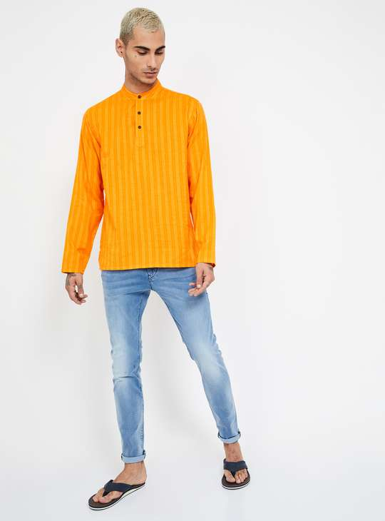 MELANGE Striped Regular Fit Kurta Shirt