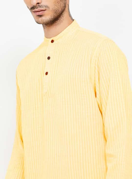 MELANGE Striped Regular Fit Shirt Kurta