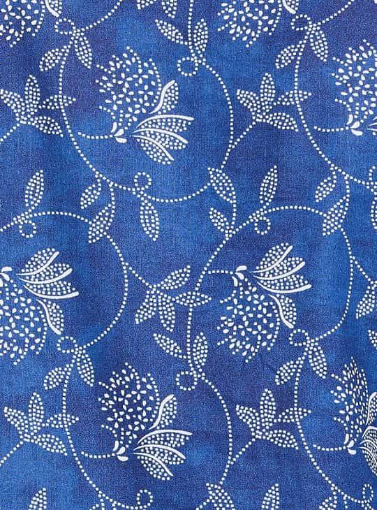 MELANGE Tropical Print Three-Quarter Sleeves Kurta