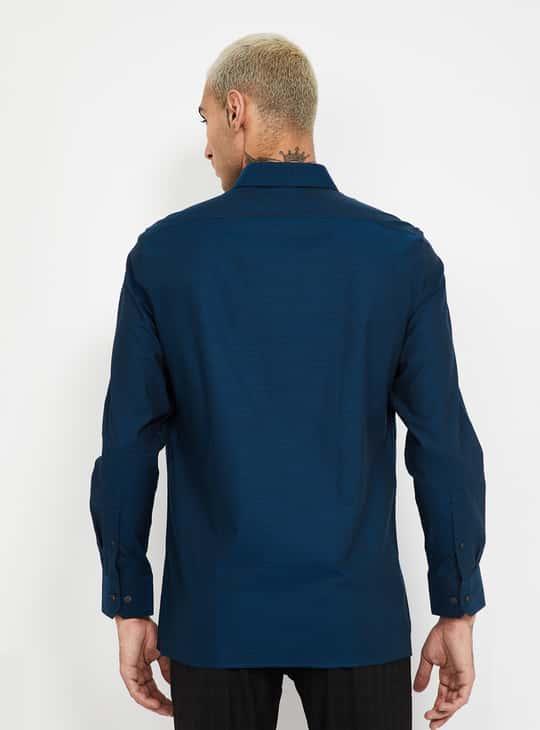LOUIS PHILIPPE Textured Regular Fit Formal Shirt