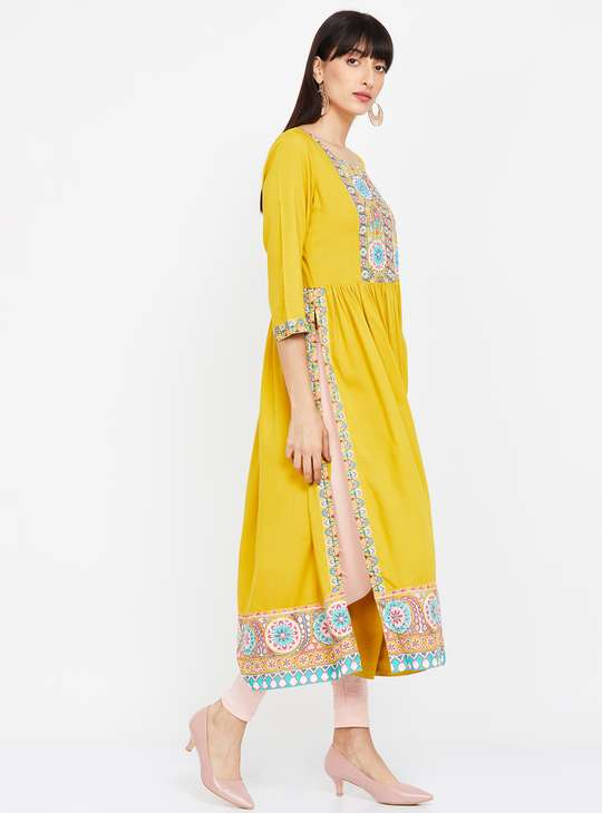 MELANGE Embroidered A-line Kurta