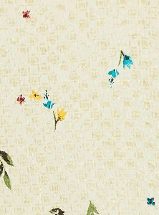 MELANGE Floral Print Three-quarter Sleeves Kurta