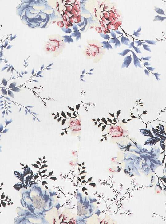 MELANGE Floral Print A-line Kurta