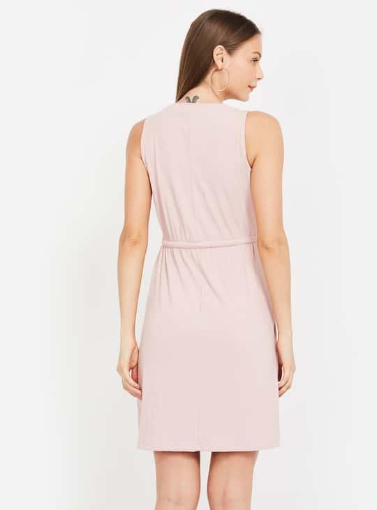 BOSSINI Women Textured Sleeveless A-line Dress