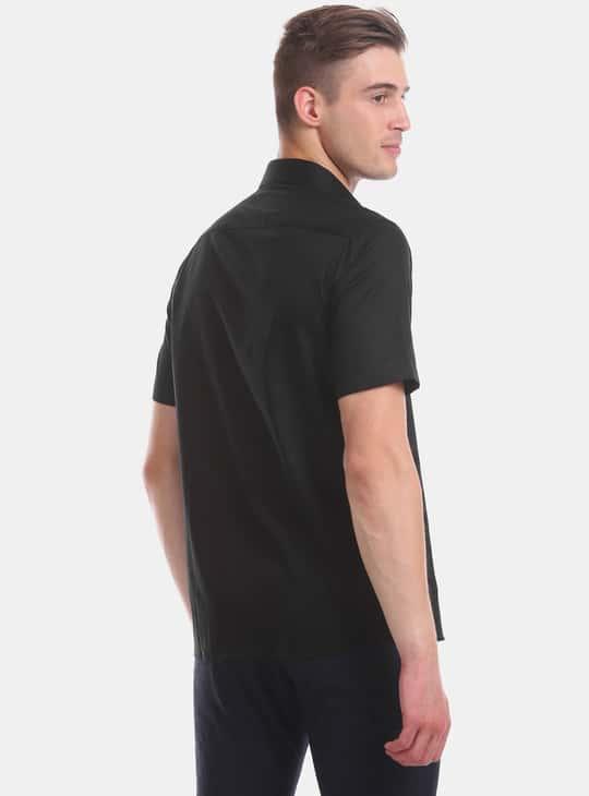 ARROW Textured Short Sleeves Regular Fit Formal Shirt