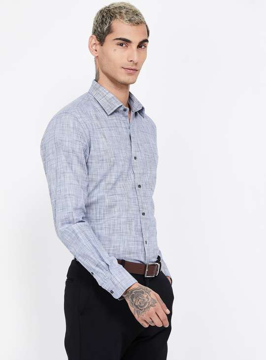 ARROW Textured Slim Fit Formal Shirt