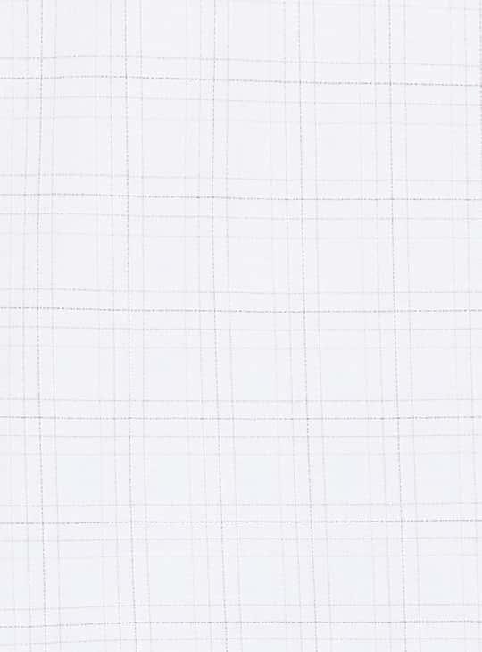 VAN HEUSEN Checked Full Sleeves Regular Fit Formal Shirt