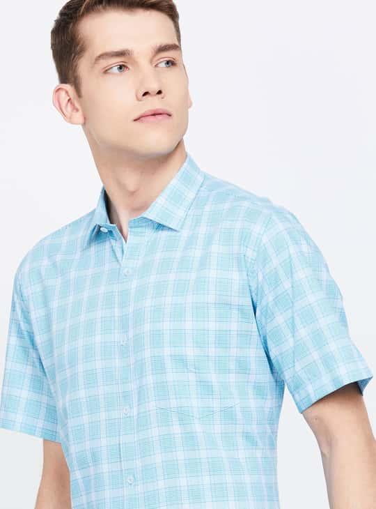 VAN HEUSEN Checked Regular Fit Formal Shirt