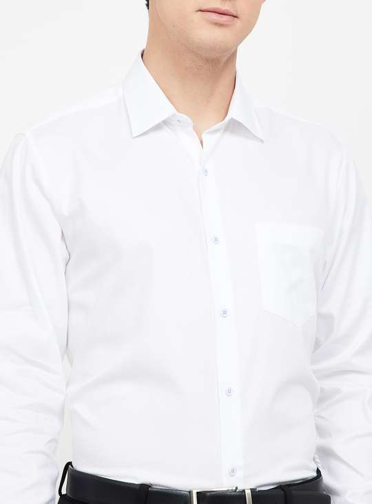 VAN HEUSEN Textured Regular Fit Formal Shirt