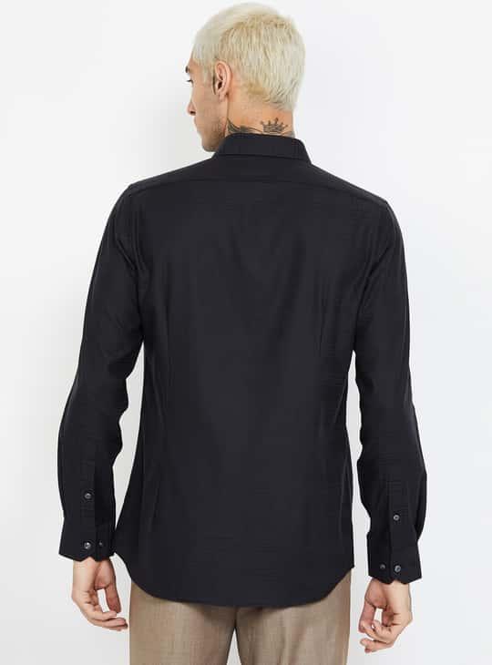 VAN HEUSEN Checked Slim Fit Formal Shirt