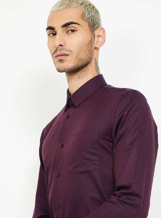 BLACKBERRYS Dobby Textured Slim Fit Formal Shirt