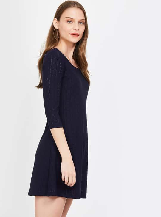 GINGER Textured A-line Dress