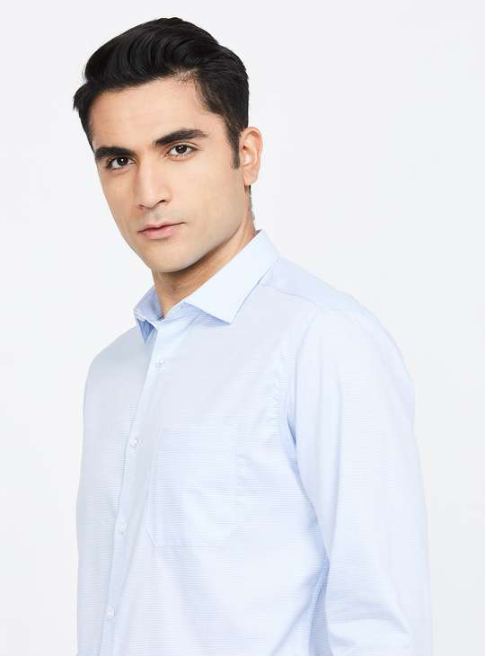 LOUIS PHILIPPE Textured Slim Fit Formal Shirt