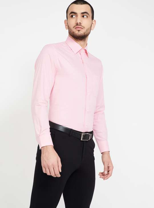 LOUIS PHILIPPE Textured Full Sleeves Regular Fit Formal Shirt